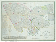 Brooklyn, NY 1843 - Hayward - Old Map Reprint