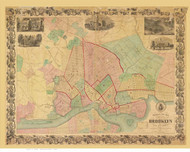 Brooklyn, NY 1861 - Phelps & Watson - Old Map Reprint
