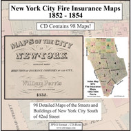 New York City, NY Fire Insurance Maps 1852-1864 on CD