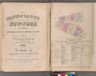 New York City, NY Fire Insurance 1852 Volume 1 Index V1 - Old Map Reprint - New York