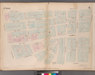 New York City, NY Fire Insurance 1852 Sheet 4 V1 - Old Map Reprint - New York