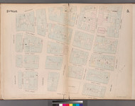 New York City, NY Fire Insurance 1852 Sheet 5 V1 - Old Map Reprint - New York