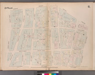 New York City, NY Fire Insurance 1852 Sheet 6 V1 - Old Map Reprint - New York