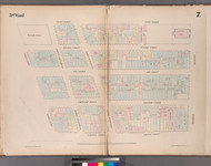 New York City, NY Fire Insurance 1852 Sheet 7 V1 - Old Map Reprint - New York