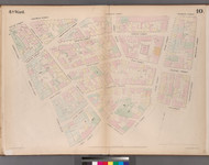 New York City, NY Fire Insurance 1852 Sheet 10 V1 - Old Map Reprint - New York