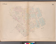 New York City, NY Fire Insurance 1852 Sheet 11 V1 - Old Map Reprint - New York