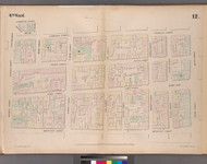 New York City, NY Fire Insurance 1852 Sheet 12 V1 - Old Map Reprint - New York