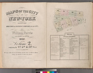 New York City, NY Fire Insurance 1852 Volume 2 Index V2 - Old Map Reprint - New York