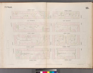 New York City, NY Fire Insurance 1852 Sheet 13 V2 - Old Map Reprint - New York