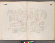 New York City, NY Fire Insurance 1852 Sheet 14 V2 - Old Map Reprint - New York