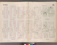 New York City, NY Fire Insurance 1852 Sheet 15 V2 - Old Map Reprint - New York