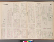 New York City, NY Fire Insurance 1852 Sheet 17 V2 - Old Map Reprint - New York