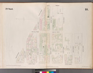 New York City, NY Fire Insurance 1852 Sheet 18 V2 - Old Map Reprint - New York