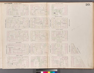 New York City, NY Fire Insurance 1852 Sheet 20 V2 - Old Map Reprint - New York