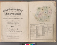 New York City, NY Fire Insurance 1853 Volume 3 Index V3 - Old Map Reprint - New York