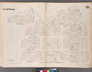 New York City, NY Fire Insurance 1853 Sheet 35 V3 - Old Map Reprint - New York