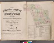 New York City, NY Fire Insurance 1853 Volume 4 Index V4 - Old Map Reprint - New York