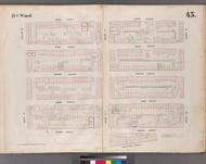 New York City, NY Fire Insurance 1853 Sheet 43 V4 - Old Map Reprint - New York