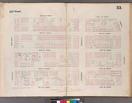 New York City, NY Fire Insurance 1853 Sheet 53 V4 - Old Map Reprint - New York