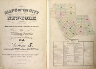 New York City, NY Fire Insurance 1854 Volume 5 Index V5 - Old Map Reprint - New York