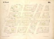 New York City, NY Fire Insurance 1854 Sheet 64 V5 - Old Map Reprint - New York