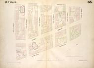 New York City, NY Fire Insurance 1854 Sheet 65 V5 - Old Map Reprint - New York