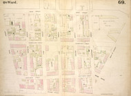 New York City, NY Fire Insurance 1854 Sheet 69 V5 - Old Map Reprint - New York