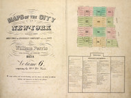 New York City, NY Fire Insurance 1854 Volume 6 Index V6 - Old Map Reprint - New York