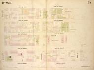 New York City, NY Fire Insurance 1854 Sheet 75 V6 - Old Map Reprint - New York