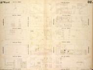 New York City, NY Fire Insurance 1854 Sheet 82 V6 - Old Map Reprint - New York