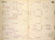 New York City, NY Fire Insurance 1854 Sheet 83 V6 - Old Map Reprint - New York