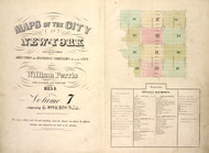 New York City, NY Fire Insurance 1854 Volume 7 Index V7 - Old Map Reprint - New York