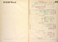 New York City, NY Fire Insurance 1854 Sheet 89 V7 - Old Map Reprint - New York