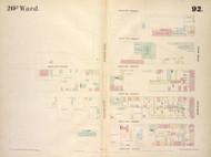 New York City, NY Fire Insurance 1854 Sheet 92 V7 - Old Map Reprint - New York