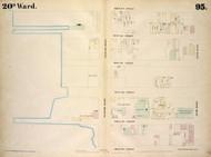 New York City, NY Fire Insurance 1854 Sheet 95 V7 - Old Map Reprint - New York
