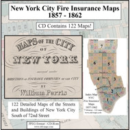 New York City, NY Fire Insurance Maps 1857-1862 on CD