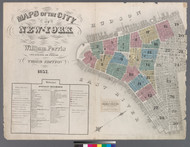 New York City, NY Fire Insurance 1857 Volume 1 Index V1 - Old Map Reprint - New York