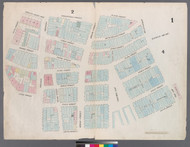 New York City, NY Fire Insurance 1857 Sheet 1 V1 - Old Map Reprint - New York