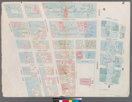 New York City, NY Fire Insurance 1857 Sheet 3 V1 - Old Map Reprint - New York
