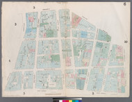 New York City, NY Fire Insurance 1857 Sheet 6 V1 - Old Map Reprint - New York