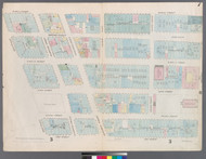 New York City, NY Fire Insurance 1857 Sheet 7 V1 - Old Map Reprint - New York