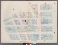 New York City, NY Fire Insurance 1857 Sheet 8 V1 - Old Map Reprint - New York