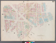 New York City, NY Fire Insurance 1857 Sheet 10 V1 - Old Map Reprint - New York