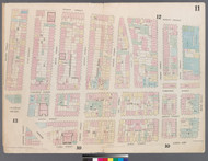 New York City, NY Fire Insurance 1857 Sheet 11 V1 - Old Map Reprint - New York