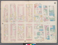 New York City, NY Fire Insurance 1857 Sheet 12 V1 - Old Map Reprint - New York