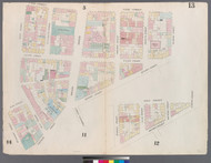 New York City, NY Fire Insurance 1857 Sheet 13 V1 - Old Map Reprint - New York