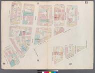 New York City, NY Fire Insurance 1857 Sheet 13 V1 - Old Map Reprint - New York
