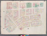 New York City, NY Fire Insurance 1857 Sheet 14 V1 - Old Map Reprint - New York