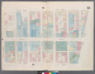 New York City, NY Fire Insurance 1857 Sheet 15 V1 - Old Map Reprint - New York
