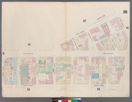 New York City, NY Fire Insurance 1857 Sheet 16 V1 - Old Map Reprint - New York